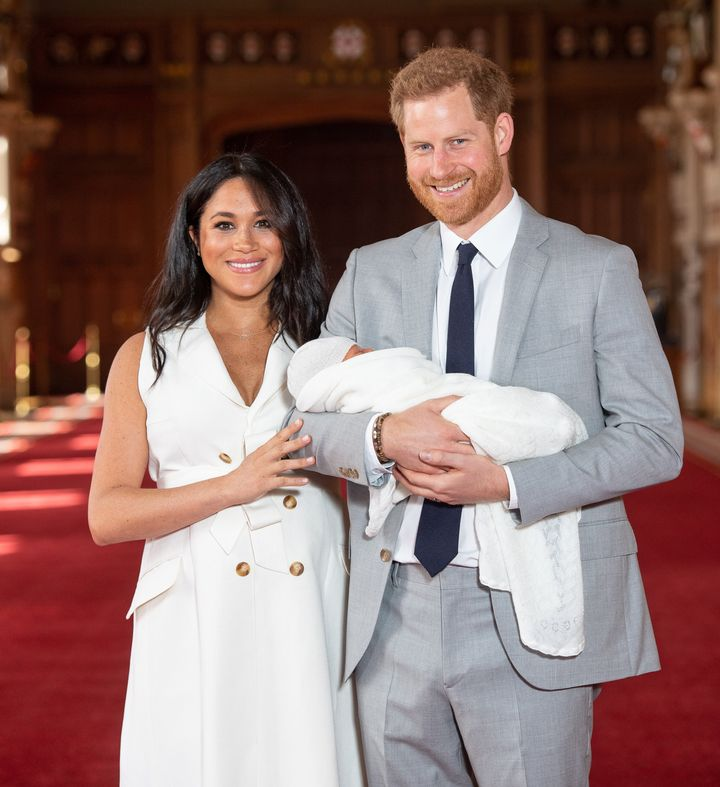 The Duke and Duchess of Sussex introducing their newborn, Archie Harrison Mountbatten-Windsor, to the world.