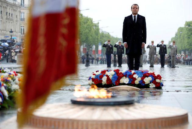 Pour le 8 mai, l'hommage involontaire de Macron à