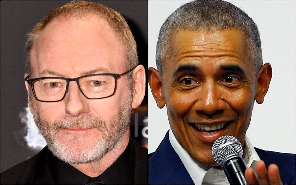 Liam Cunningham and Barack Obama