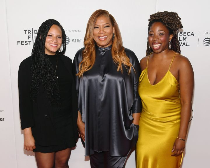 Queen Latifah with Haley Elizabeth Anderson and B. Monet.