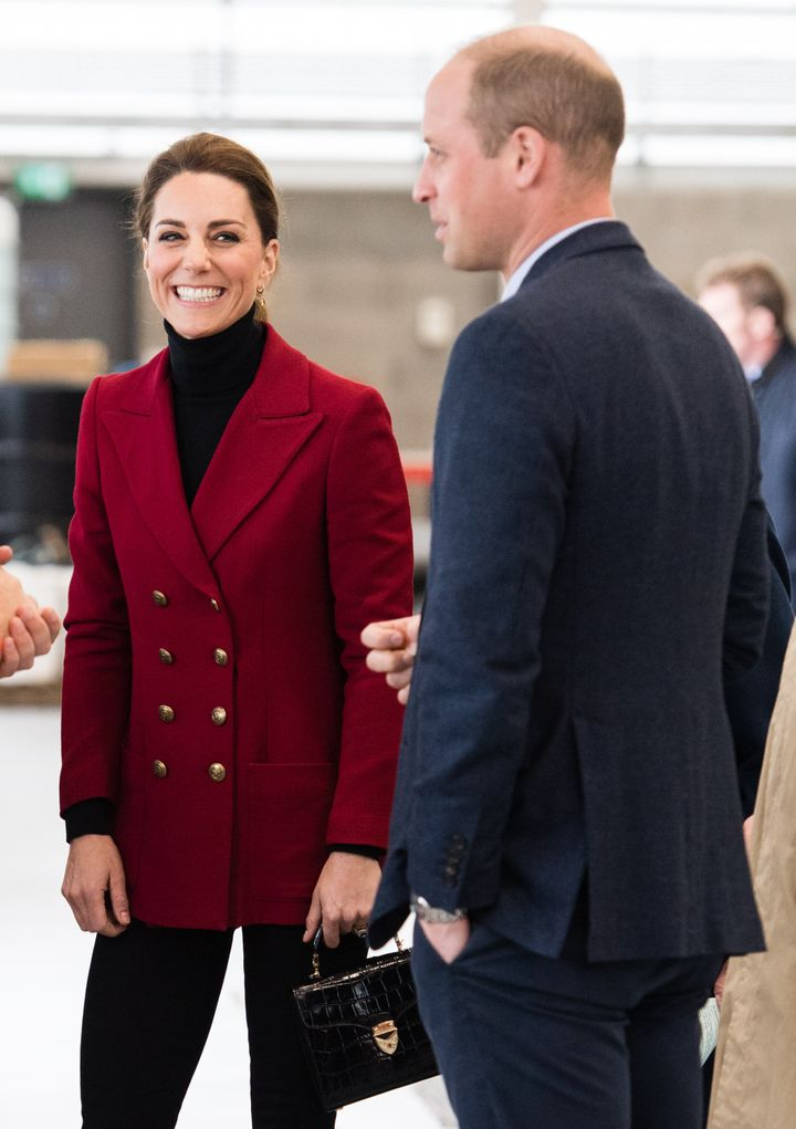 The Duke and Duchess of Cambridge visit Caernarfon Coastguard Search and Rescue Helicopter Base during a visit to North Wales