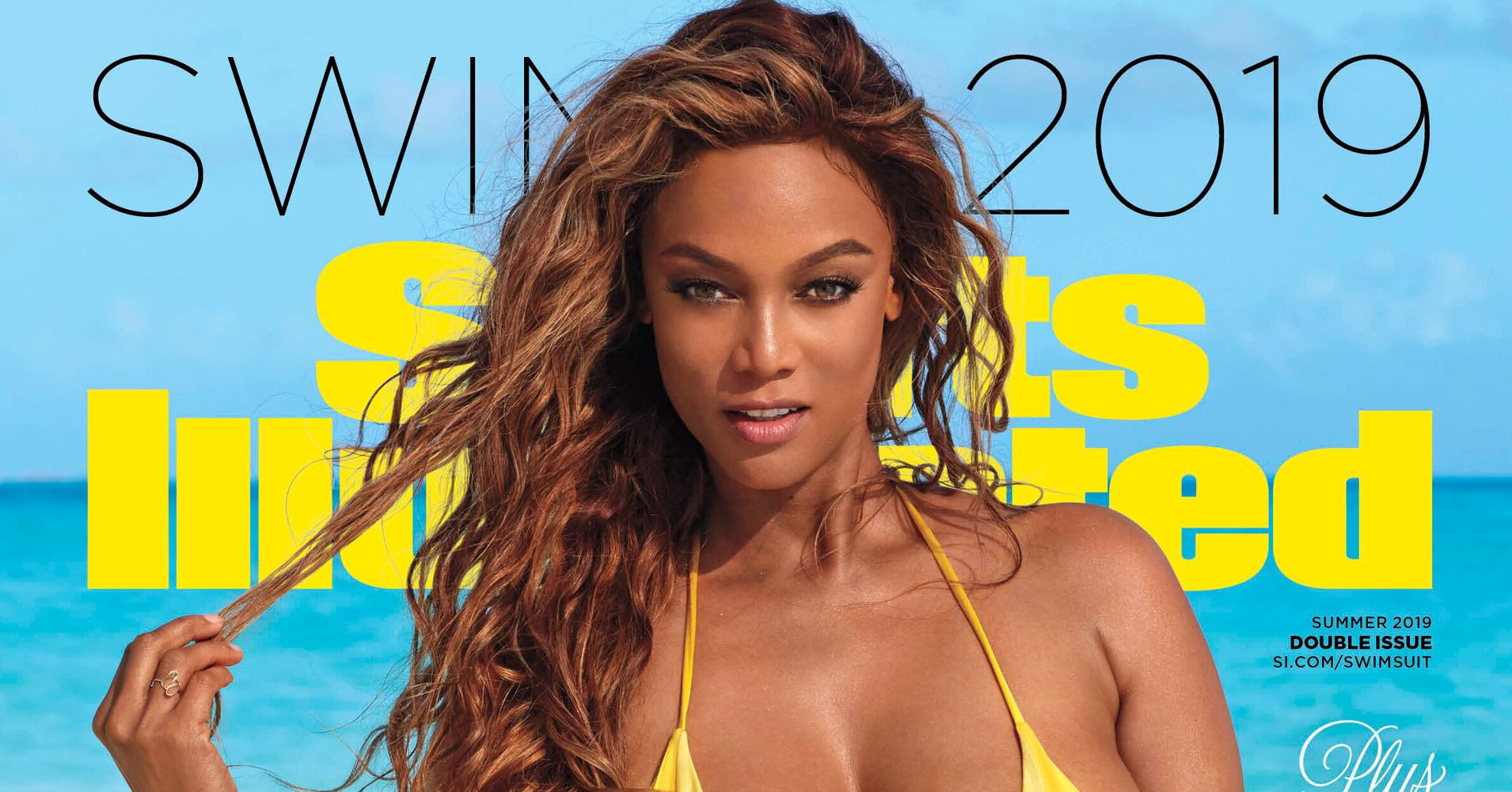 f90a55fd0d383 Tyra Banks Returns For Her 3rd Cover Of Sports Illustrated Swimsuit    HuffPost Life