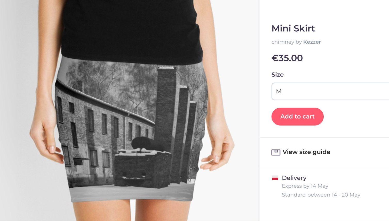 Minigonne con immagini lager vendute online, condanna del museo