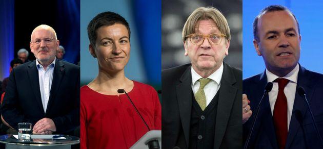 Frans Timmermans,Ska Keller,Guy Verhofstadt etManfred