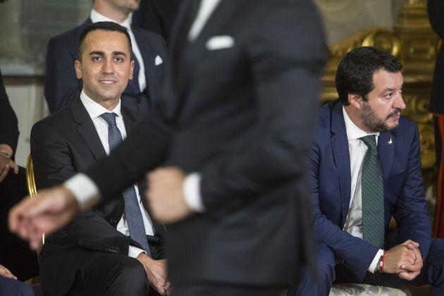 Di Maio e Salvini, divisi sul