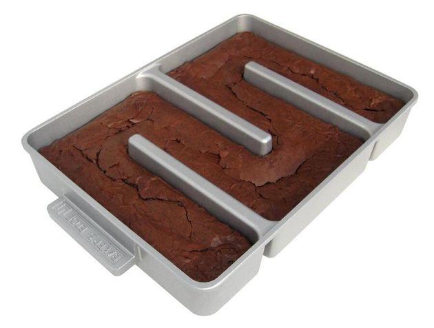 A assadeira criada por Emily Griffin para fazer o brownie perfeito (segundo ela