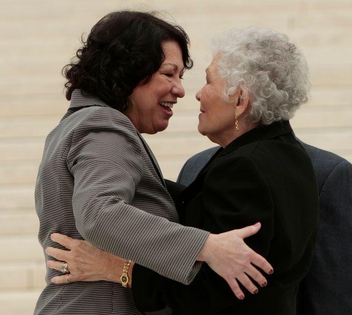 Sonia Sotomayor with her mother Celina Sotomayor.