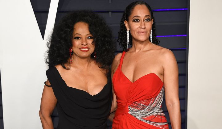 Singer Diana Ross with her daughter Tracee Ellis Ross