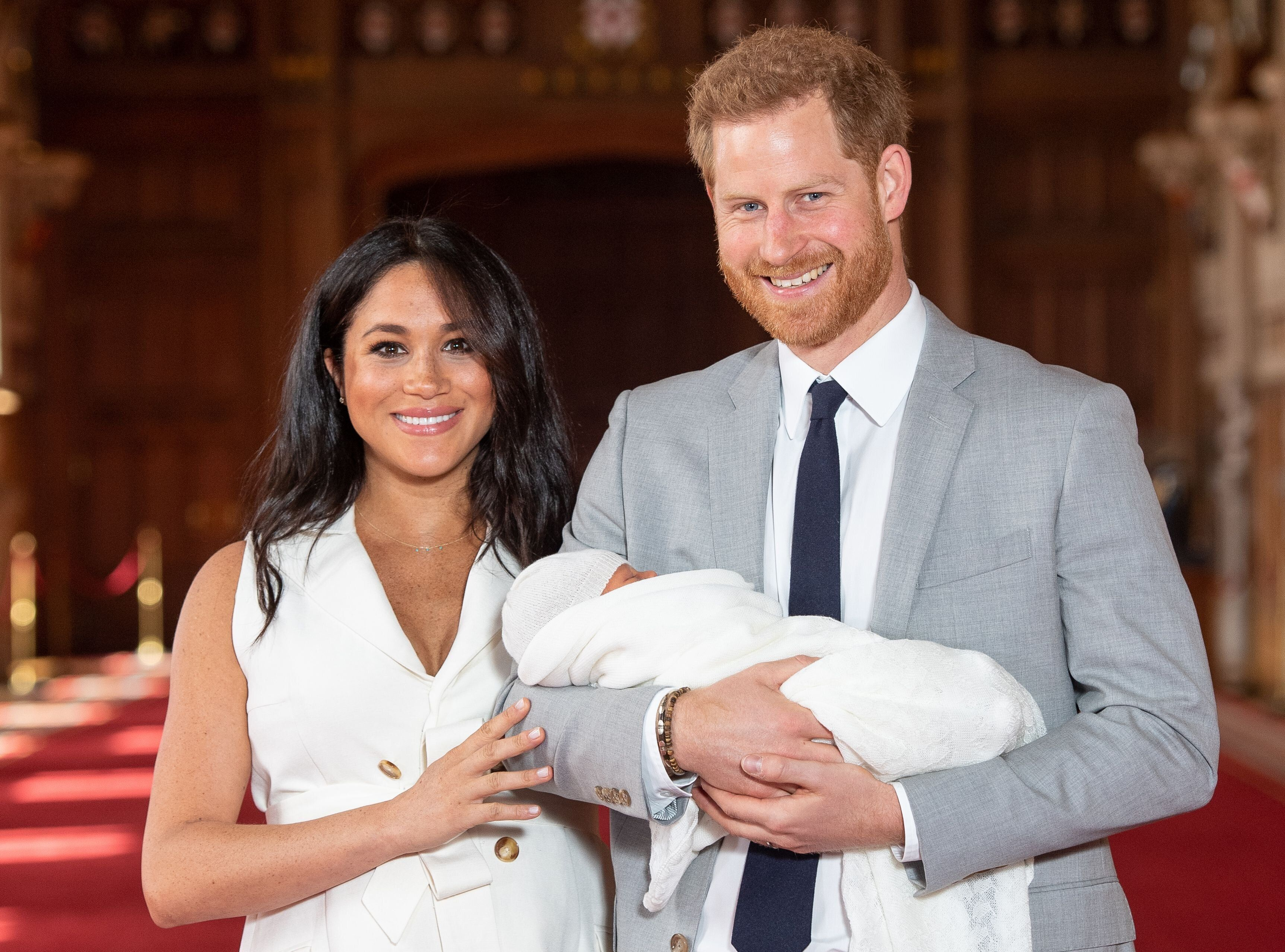 The Duke and Duchess of Sussex appeared with baby Archie Harrison on Wednesday.