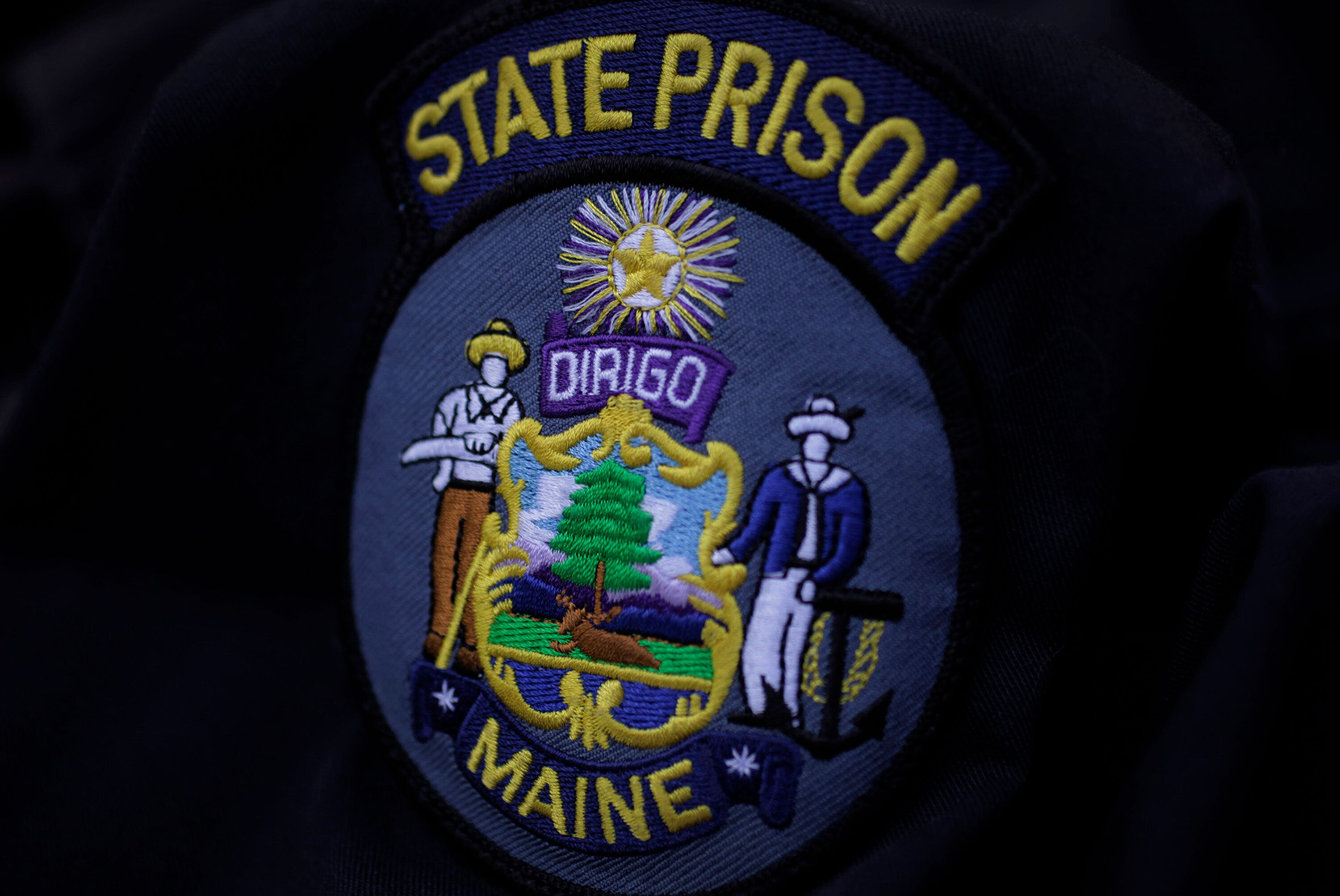 AUGUSTA, ME  AUGUST 24: A state prison guard uniform worn by Cory Peaslee shows the seal of the Dept. of Corrections, Sun. August  24, 2014. Peaslee, 20, alleges that fellow guards and his supervisor hazed him last spring when he was new to the job. He no longer works at the prison. (Photo by Amelia Kunhardt/Portland Press Herald via Getty Images)