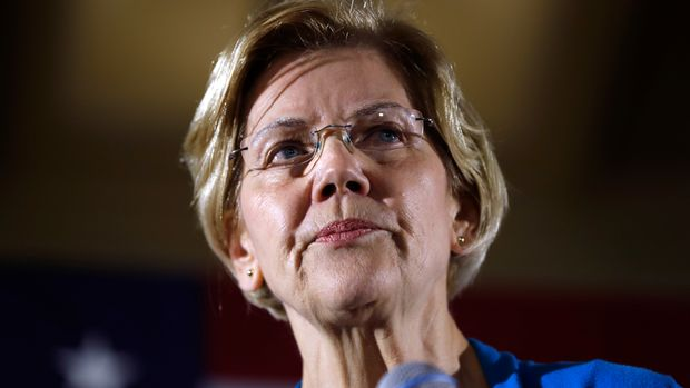 2020 Democratic presidential candidate Sen. Elizabeth Warren speaks to local residents during an organizing event, Friday, May 3, 2019, in Ames, Iowa.(AP Photo/Charlie Neibergall)