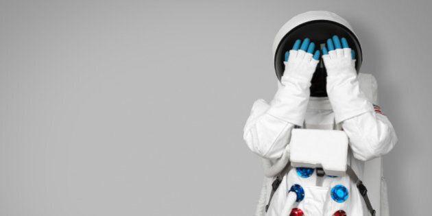 Astronaut hides his