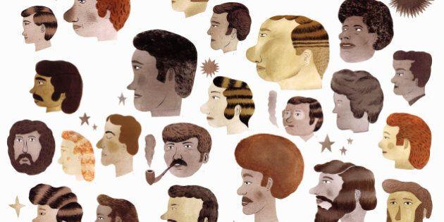 Variety of men's hairstyles