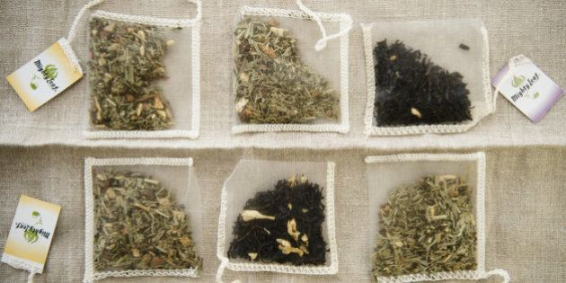 Studio Shot of selection of herbal