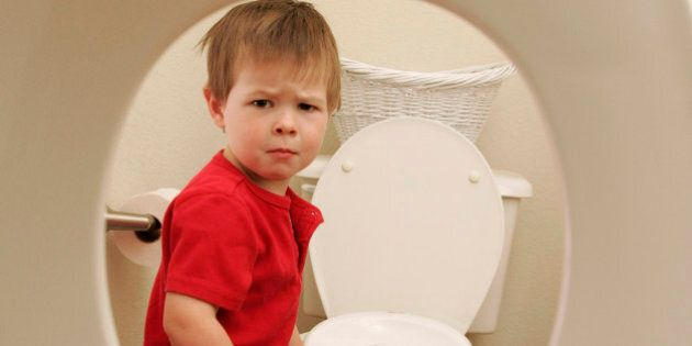 You can lead a kid to the potty but you can't make him use it. With some kids no matter what parents...