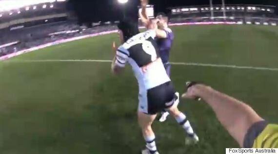 Shark Michael Ennis Slaps Cooper Cronk, Breaks Mick Fanning