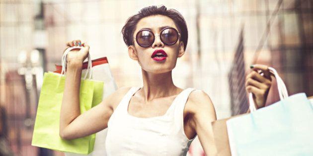Asian shopaholic