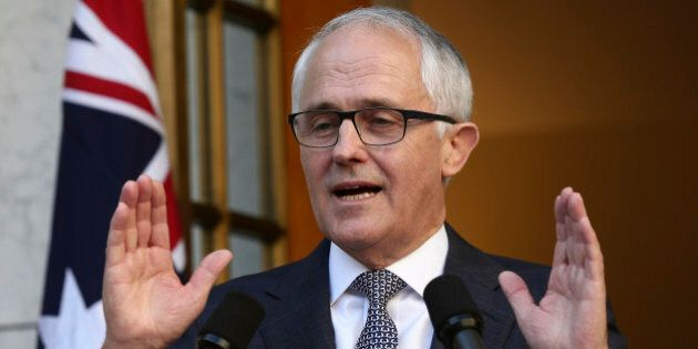 Australia Prime Minister Malcolm Turnbull announces his new cabinet during a press conference at Parliament...
