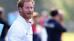 Rugby World Cup: Prince Harry Watches England Train Ahead Of Australia