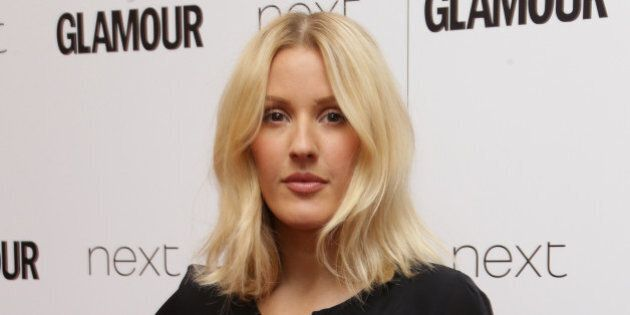 FILE - In this June 2, 2015 file photo, Ellie Goulding poses for photographers upon arrival at the Glamour...