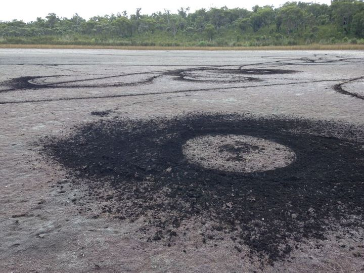 The damage done to a Noongar sacred site over the Easter break.