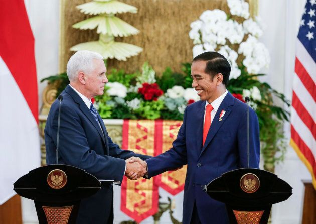 Indonesia's President Joko Widodo met with US Vice President Mike Pence in Jakarta on