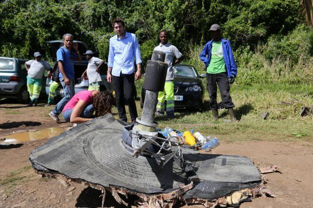 Part of the MH370 wreckage that was found on the French island of La Reunion in July