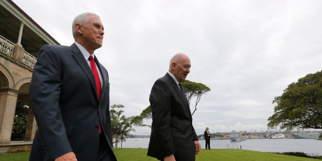 Mike Pence is taking it easy in Sydney on