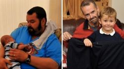 Dad Drops 20 Stone And Quits Smoking For Son's First Day Of