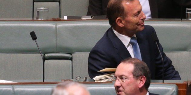 Tony Abbott, Joe Hockey and Kevin Andrews Pictured Together On Backbench In Question