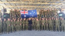 Malcolm Turnbull Spends ANZAC Day With Troops in