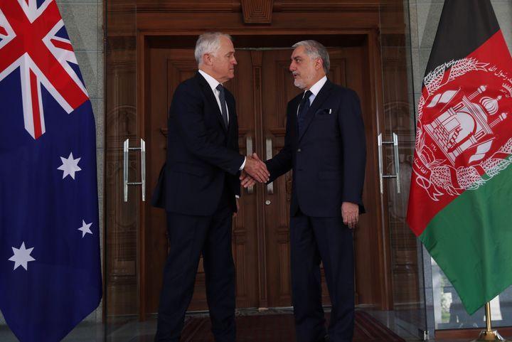 Prime Minister Malcolm Turnbull met with Iraqi Prime Minister Dr Haider Al-Abadi in Bagdad.