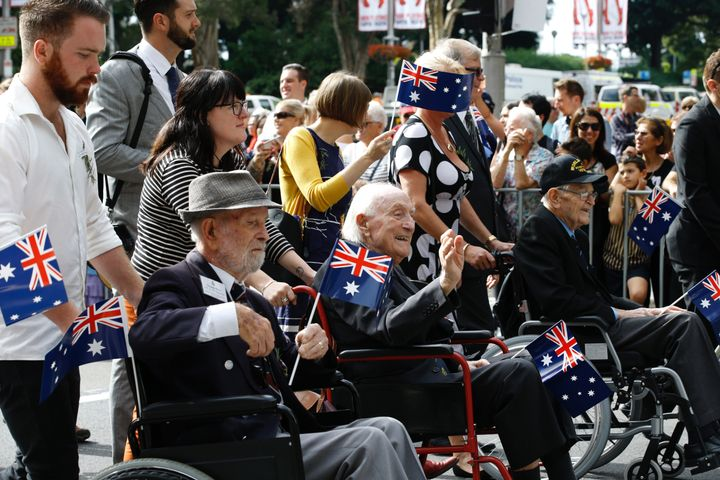 The ANZAC Day march in Sydney.