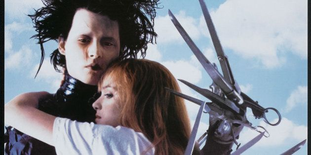 Poster for the film 'Edward Scissorhands' (directed by Tim Burton), 1990. (Photo by Buyenlarge/Getty