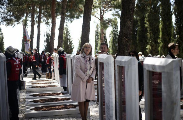New Zealand's Justice Minister visited the Canakkale Martyrs' Memorial in Gallipoli on