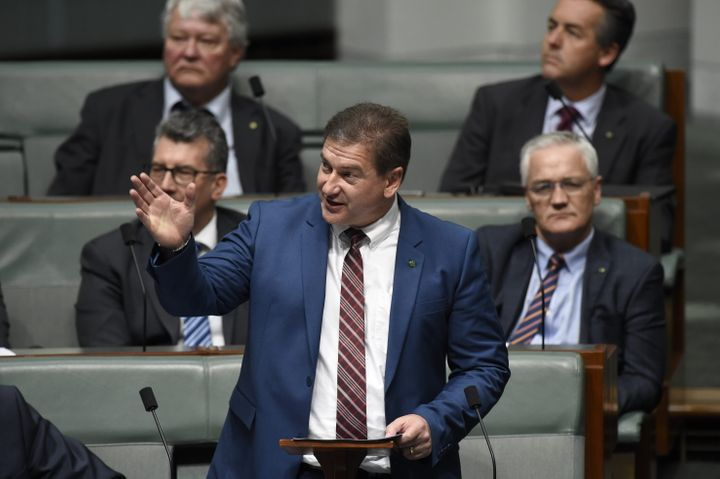 Federal MP Llew O'Brien giving his maiden speech in Federal Parliament