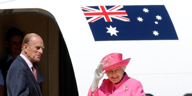 FILE - In this Oct. 26, 2011 file photo, Britain's Queen Elizabeth II, right, and her husband Prince...