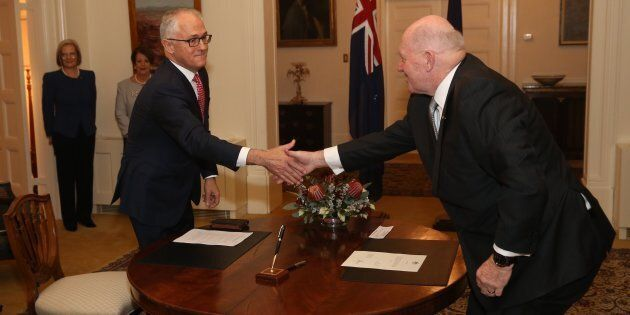 Malcolm Turnbull is sworn in as Prime Minister by the Governor-General Sir Peter