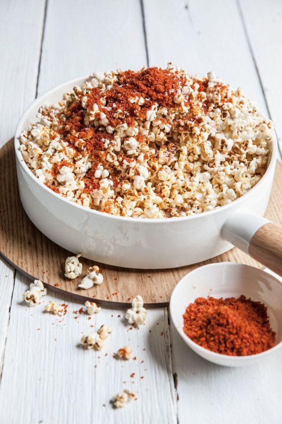 Popcorn With Sherry Vinegar And Chorizo