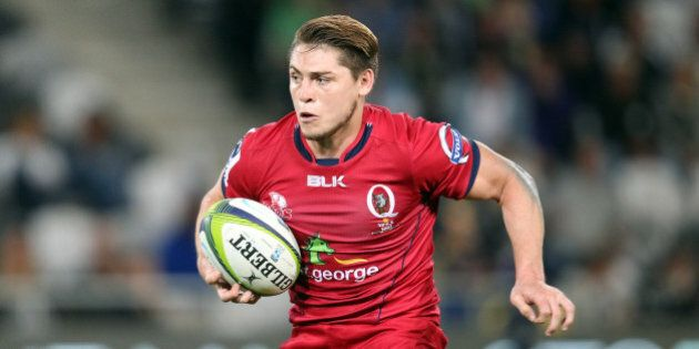 DUNEDIN, NEW ZEALAND - FEBRUARY 27: James O'Connor of the Reds on the attack during the round three Super...