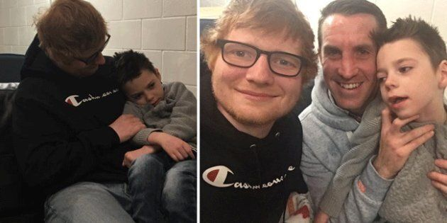 Ed Sheeran surprised six-year-old fan Ollie Carroll who suffers from the rare condition called Battens