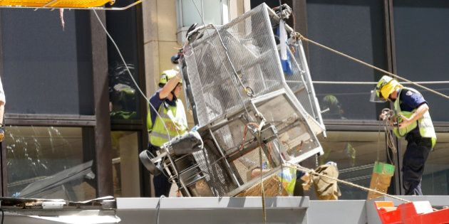 Two Window Cleaners Plunge From High Rise Land On Awning