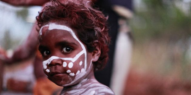 Young Aboriginal girl during a