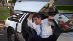 Mike Baird Just Rolled Into Work In A DeLorean: Back To The Future Day Is