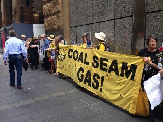 Coal Seam Gas Protestors Picket Energy Meeting After Farmer George Bender's