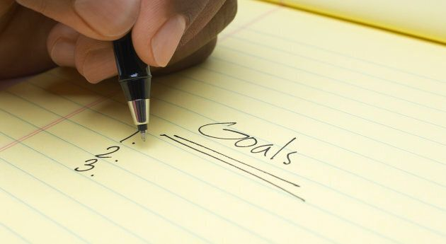 Write your goals down and place the list in a spot you'll see it, such as the fridge or your bedside table.