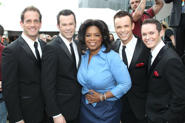 With Oprah Winfrey at Federation Square in Melbourne,