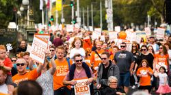 Red Heads Fill Melbourne's Federation Square To Celebrate All Things