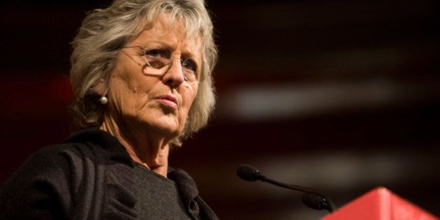 MELBOURNE, AUSTRALIA - AUGUST 22: Germaine Greer speaks at The Age Book of the Year Awards as part of...