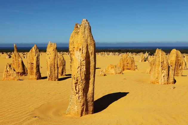 The Pinnacles are made up of natural limestone